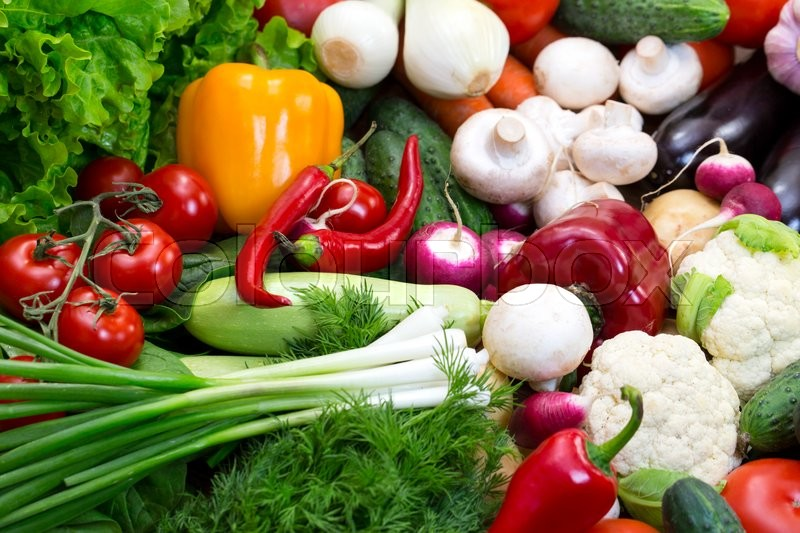 Stock image of 'Background of fresh vegetables'