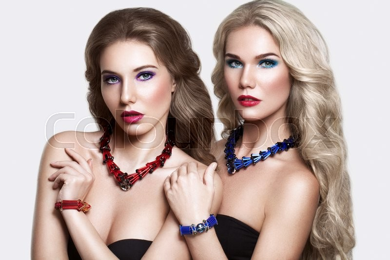 Stock image of 'Beauty Fashion Portrait of Glamorous Women Fashion Models'