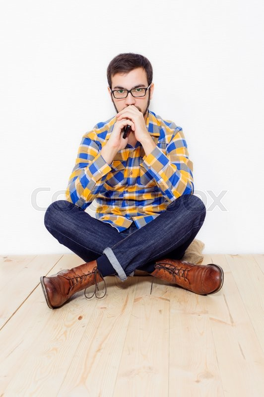Stock image of 'young man in studio lifestyle'