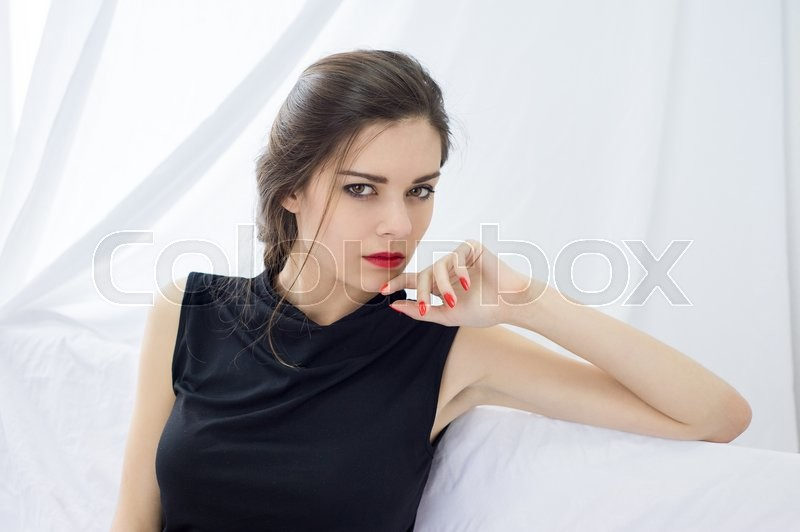 Stock image of 'portrait of a beautiful young girl at home'