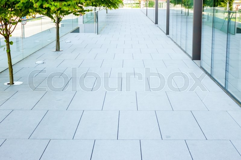 Stock image of 'lane along building can be used as background'