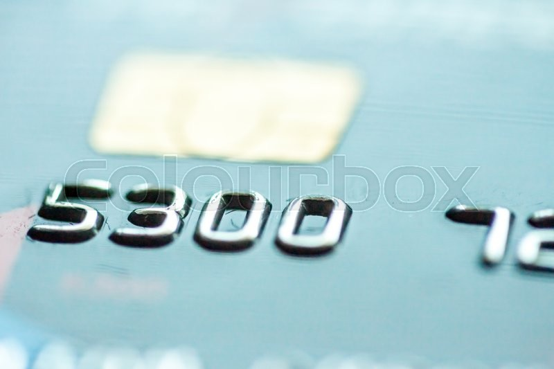Stock image of 'closeup of credit card with chip to use as background'