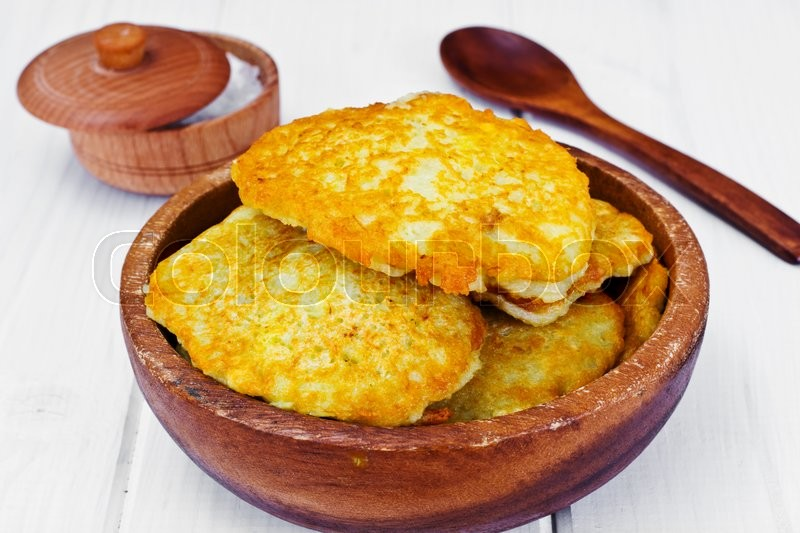 Stock image of 'Fried Potato Pancakes. Belarusian and German Cuisine. Stodio Photo'