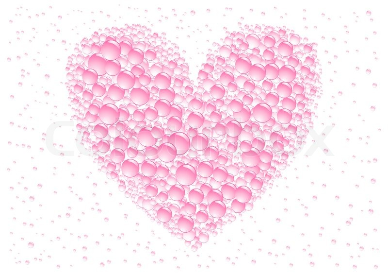Download Pink love drops heart on the white background | Stock ...