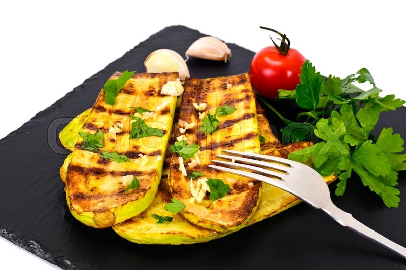 Stock image of 'Courgettes Zucchini Grill Studio Photo'