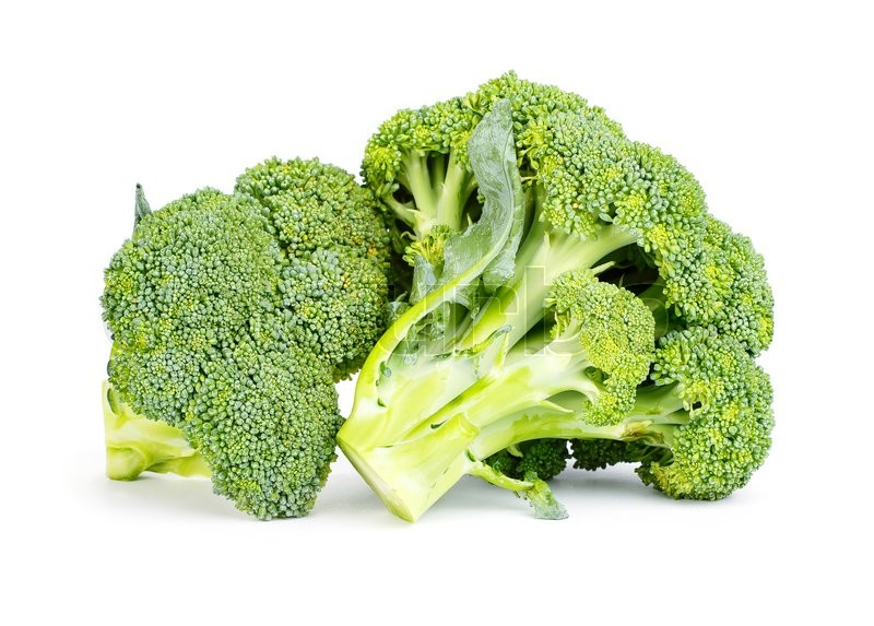 Stock image of 'Fresh broccoli isolated on white background'