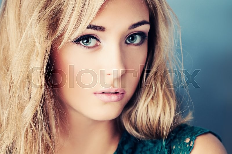 Stock image of 'Pretty Girl. Beautiful Face'