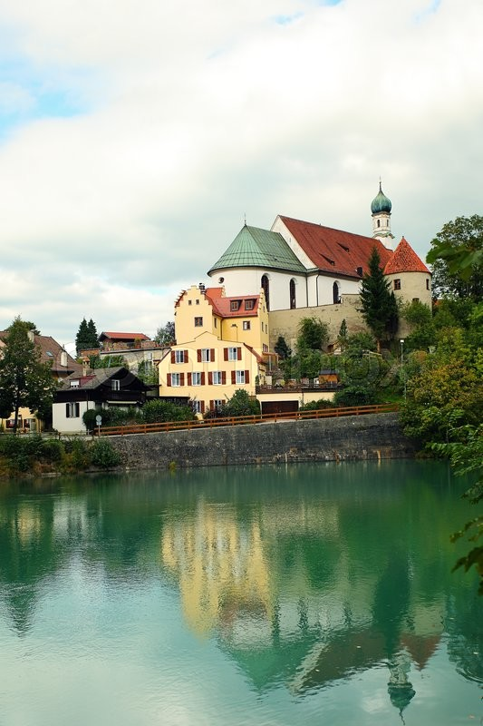 Stock image of 'Sightseeing of Bavaria, Germany. Old Town Fussen'