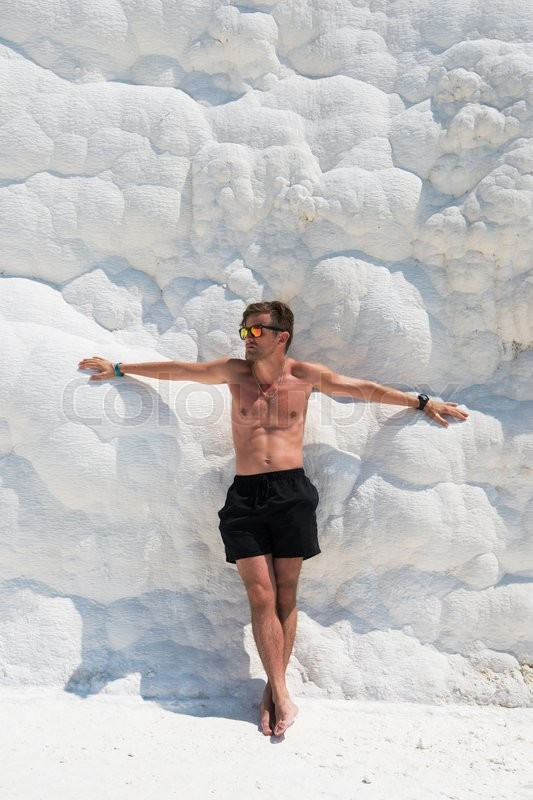 Stock image of 'Portrait of man in Pammukale near modern Turkey city Denizli, Turkey'