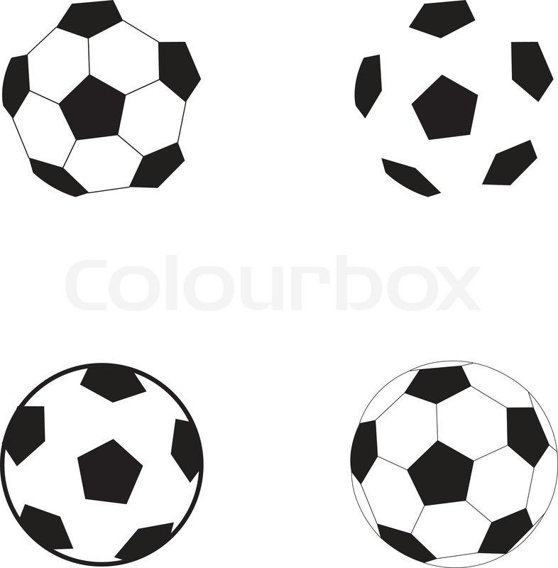 Fussball Symbol Fussball Auf Dem Stock Vektor Colourbox