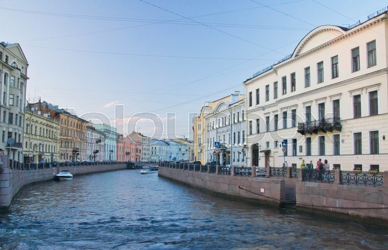 Stock image of 'Tourist boat on the river at spring day'
