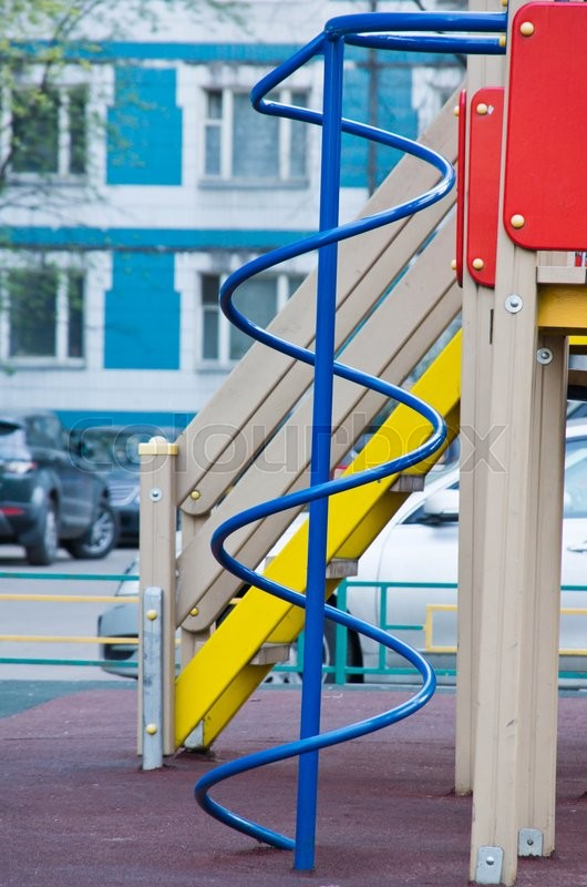 Stock image of 'ladder on the playground at summer day'