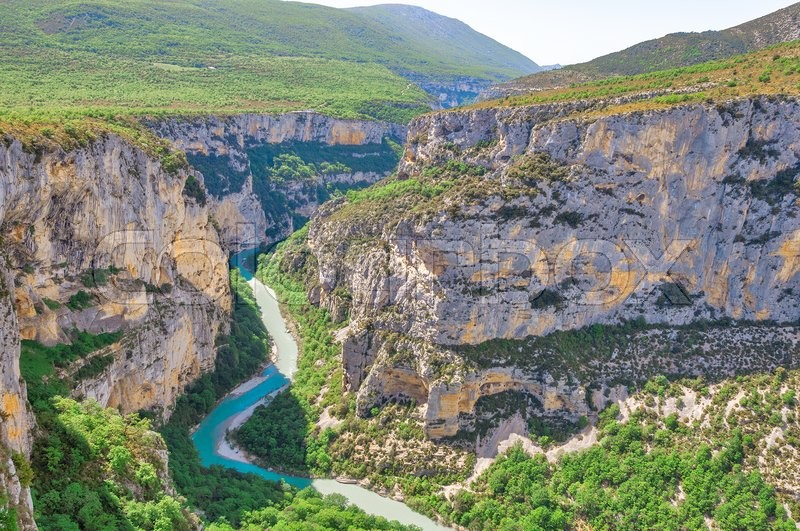 Stock image of 'View of deep Verdon gorge. Provence. France.'