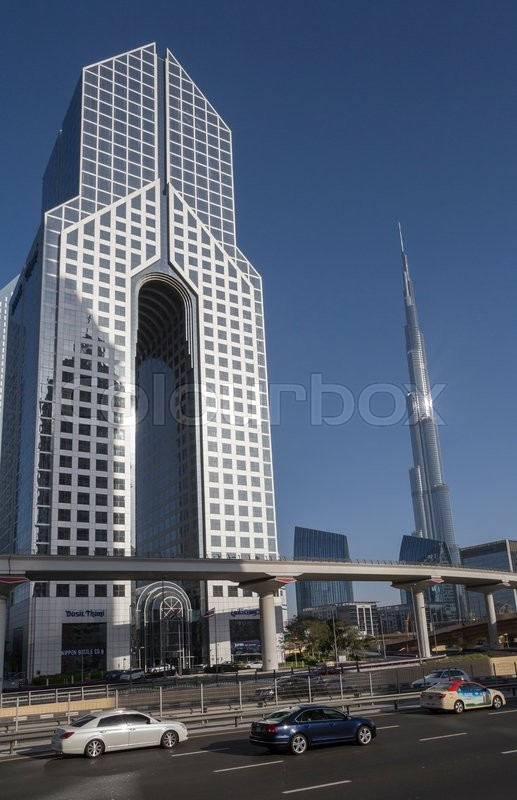 Editorial image of 'Sight of Downtown district in Dubai'
