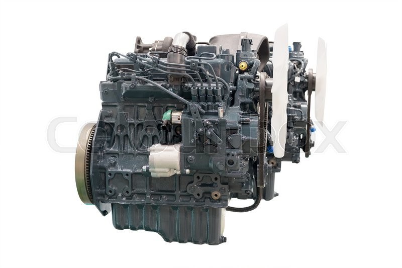 Stock image of 'The image of an engine under the white background'