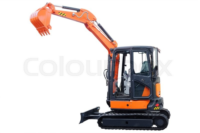 Stock image of 'The image of an excavator'