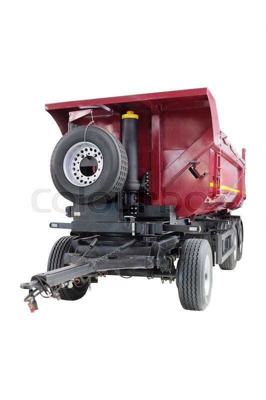 Stock image of 'The image of a trailer under the white background'