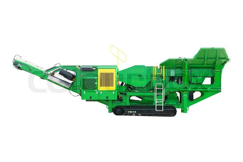 Stock image of 'asphalt spreading machine under the white background'