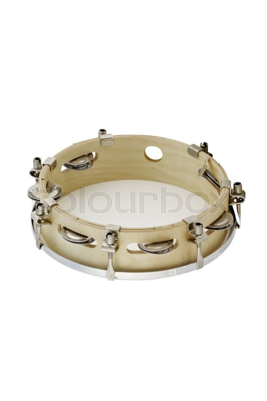 Stock image of 'The image of tambourine under the white background'