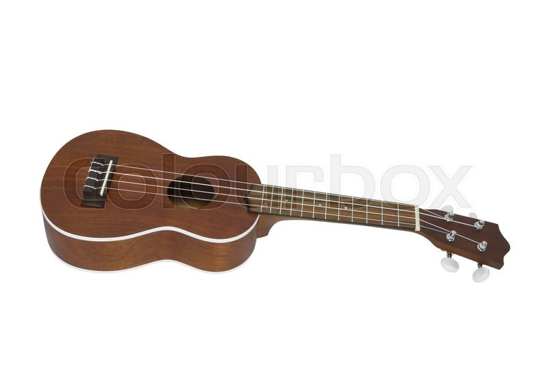 Stock image of 'The image of guitar under the white background'
