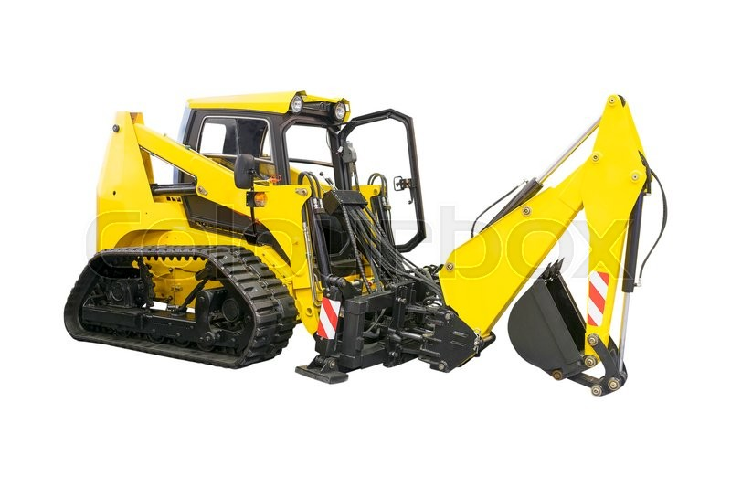 Stock image of 'excavator under the white background'