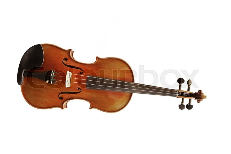 Stock image of 'The image of violin under the white background'