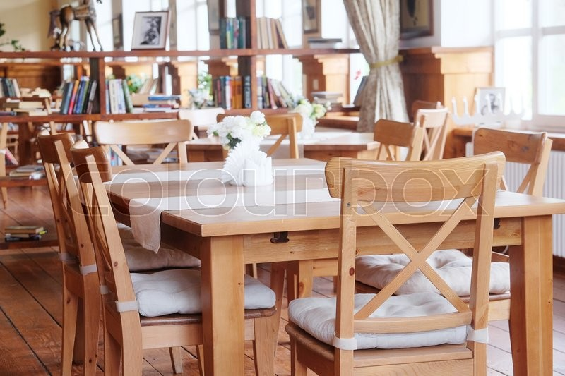 Stock image of 'Interior of a modern cafe'