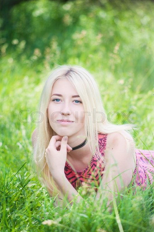 Stock image of 'photo of a beautiful young girl on nature summer'