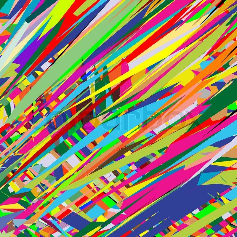 Color Rain Abstract Art Illustration Stock Image Colourbox