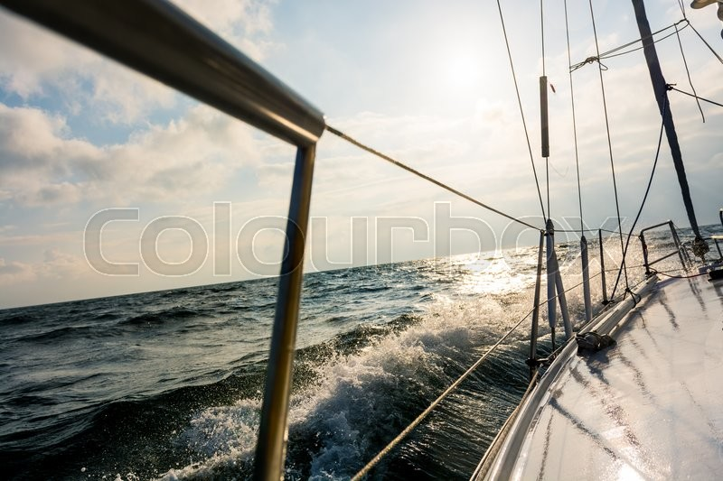 Stock image of 'can be cropped to show either sail or engine running'