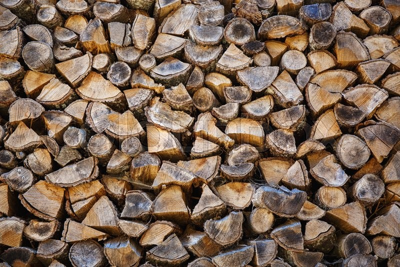 Stock image of 'Woodpile from big logs - Background And Texture'