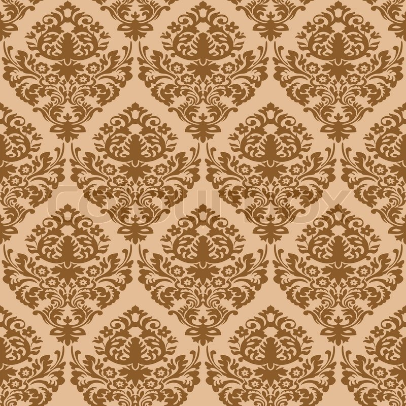 damask brown seamless texture abstract pattern art illustration