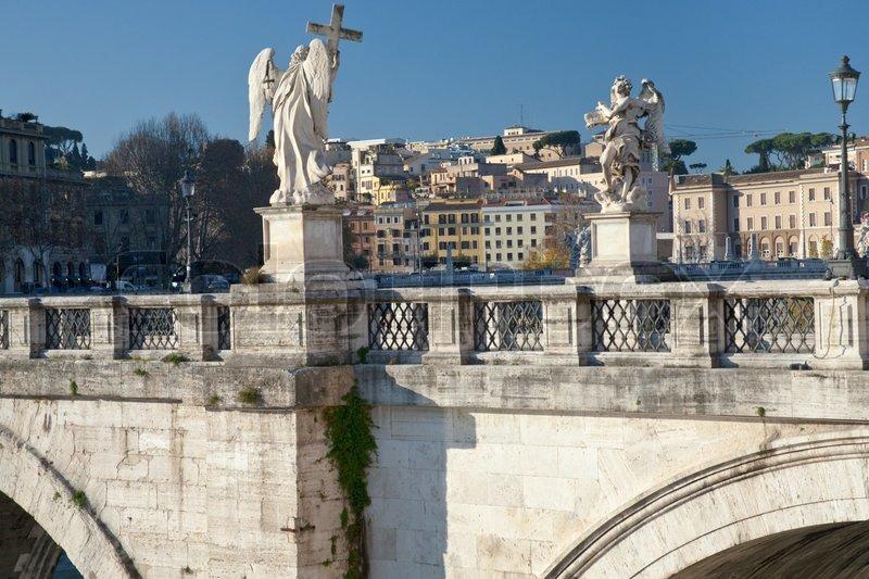 http://www.colourbox.com/preview/1957663-146742-statues-on-st-angel-bridge-on-tiber-river-in-rome.jpg