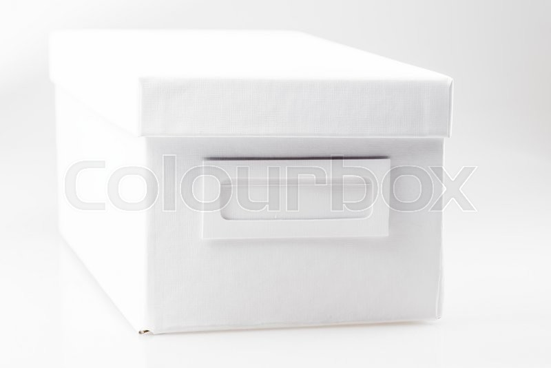 Stock image of 'Office box on a white background empty'
