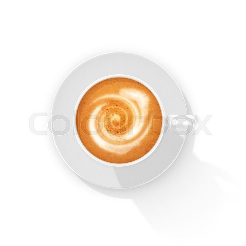 Stock image of 'Cup of coffee, a top view. 3d illustration'