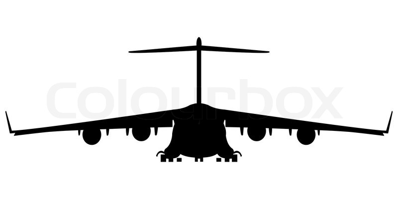 hercules military airplane silhouette  abstract art
