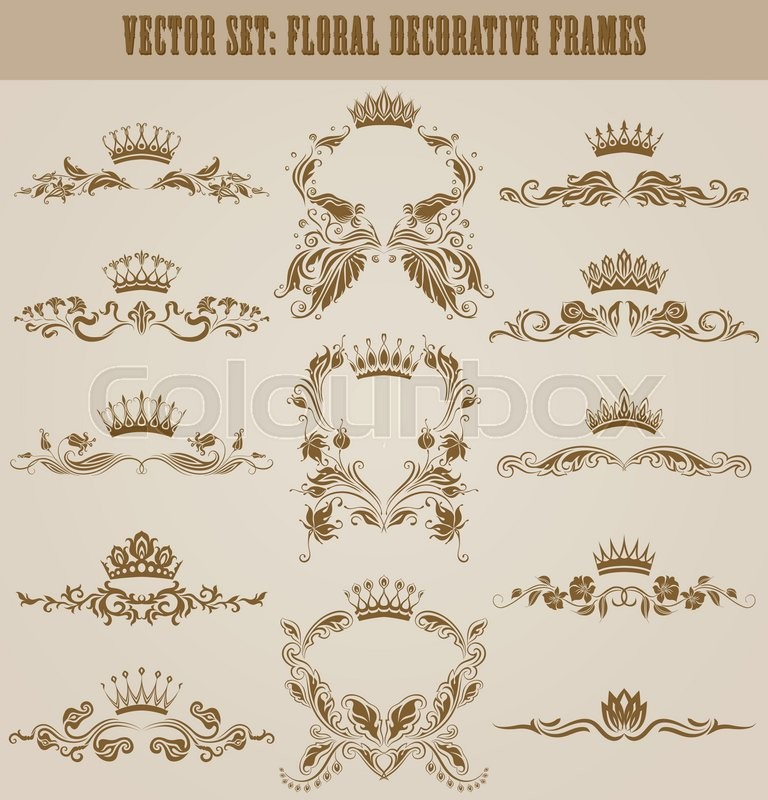 set of gold monograms for graphic