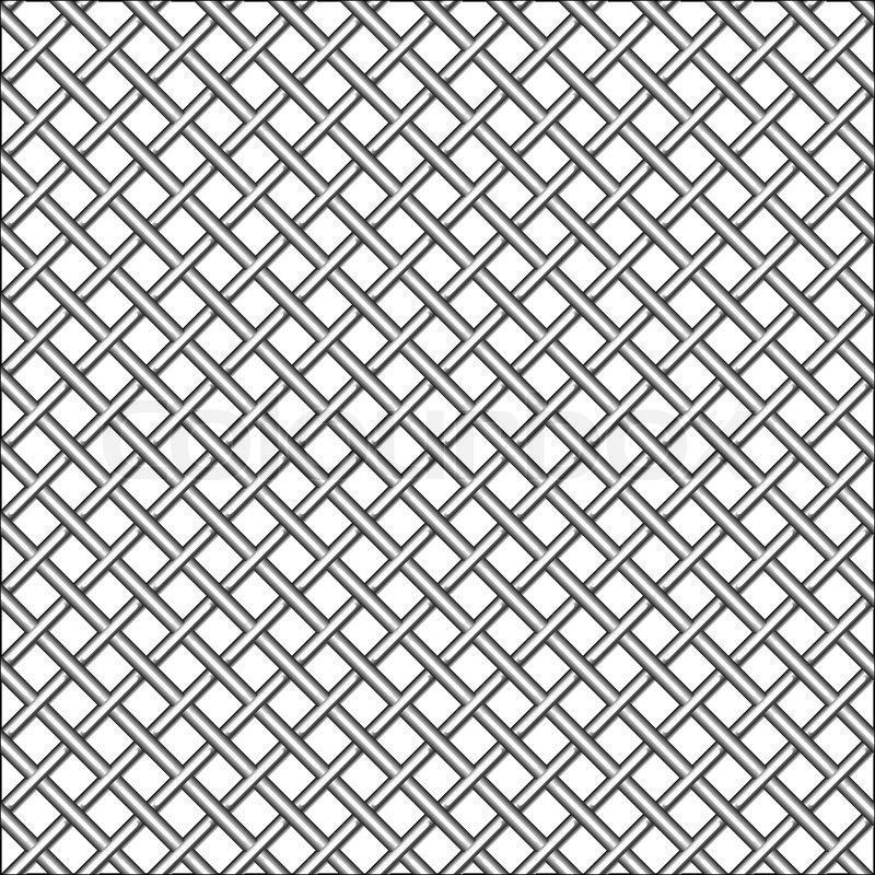 Design with metallic realistic mesh, abstract seamless pattern; art ...