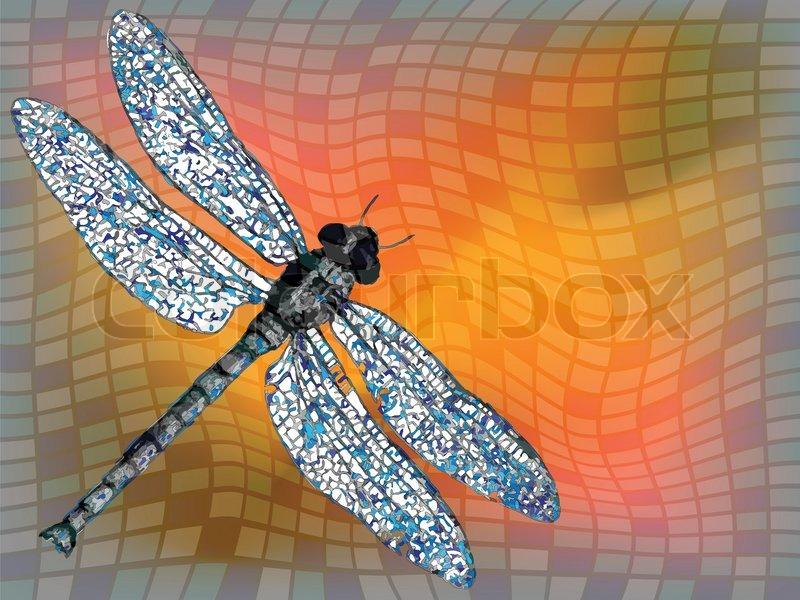 Drachen fliegen gegen quadratischen textur abstrakte for Gelb karten gegen fliegen