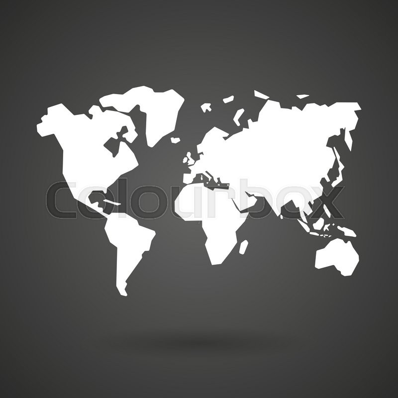 A world map white icon on a dark background vector illustration a world map white icon on a dark background vector illustration stock vector colourbox gumiabroncs Choice Image