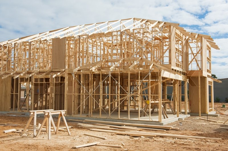 New Residential Construction Home Stock Image