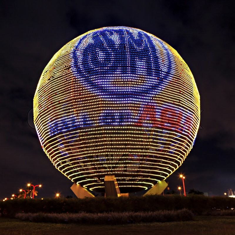 Editorial image of 'MANILA, PHILIPPINES - FEBRUARY 23: Sphere at SM Mall of Asia (MOA) is a 2nd largest mall in the Philippines on February 23, 2013 in Manila, Philippines. It has a land area of 42 hectares and has gross floor area of an approximate 390193 meters'