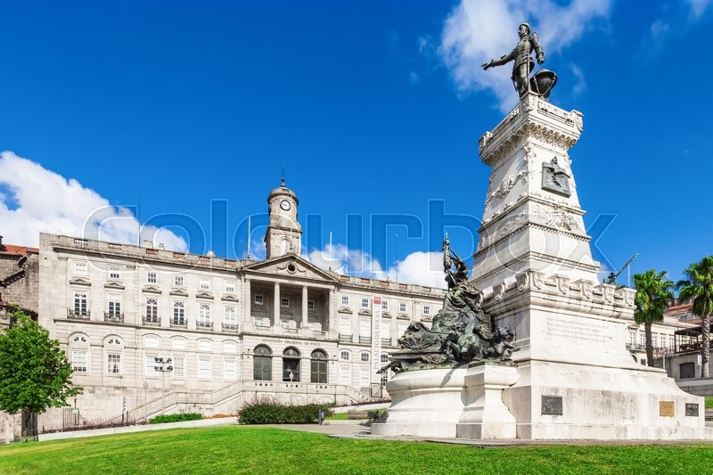 Editorial image of 'PORTO, PORTUGAL - JULY 02: The Palacio da Bolsa (Stock Exchange Palace) is a historical building on July 02, 2014 in Porto, Portugal'