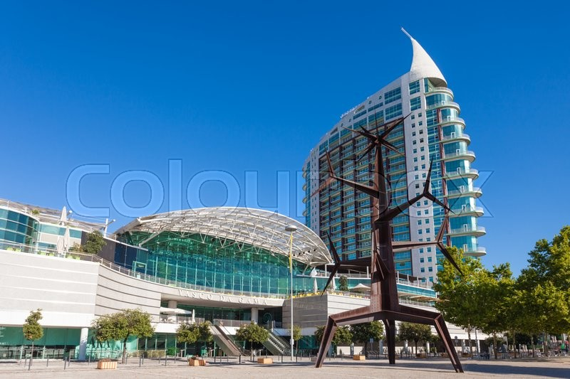 Editorial image of 'LISBON, PORTUGAL - JULY 16: Vasco De Gama Shopping Mall on July 16, 2014 in Lisbon, Portugal'