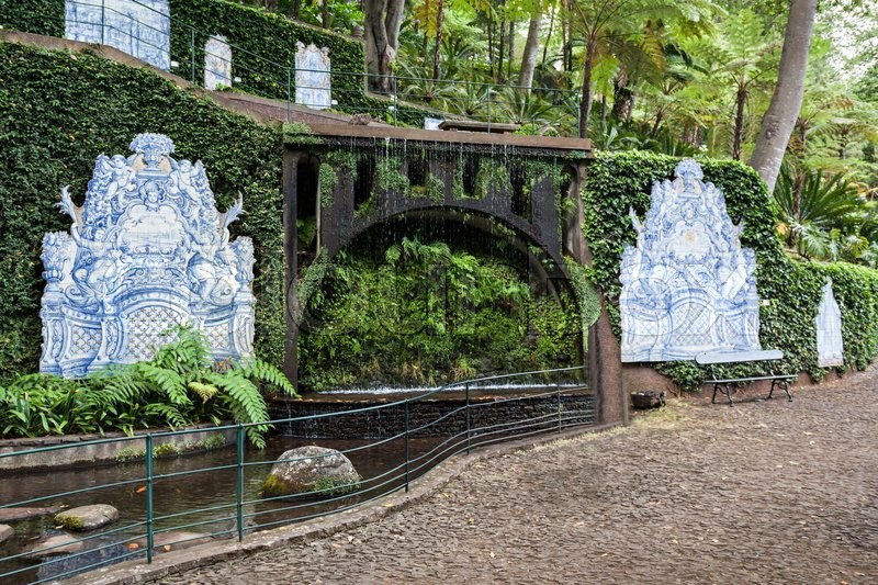 Editorial image of 'FUNCHAL, MADEIRA - JuLY 04: Monte Palace Tropican Garden on July 04, 2014 in Madeira, Portugal.'