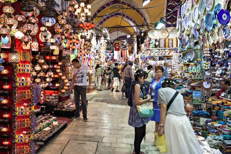 Editorial image of 'ISTANBUL, TURKEY - SEPTEMBER 08, 2014: The Grand Bazaar is one of the largest and oldest covered markets in the world on September 08, 2014 in Istanbul, Turkey.'