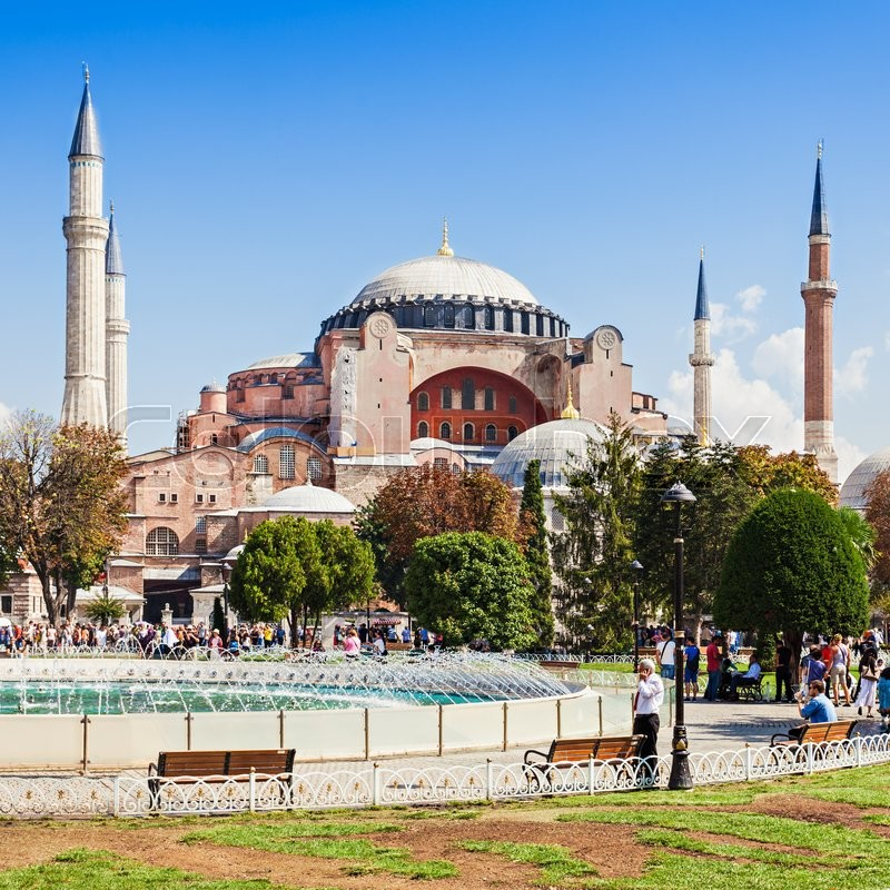 Editorial image of 'ISTANBUL, TURKEY - SEPTEMBER 09, 2014: Hagia Sophia on September 09, 2014 in Istanbul, Turkey. Hagia Sophia is the greatest monument of Byzantine Culture.'