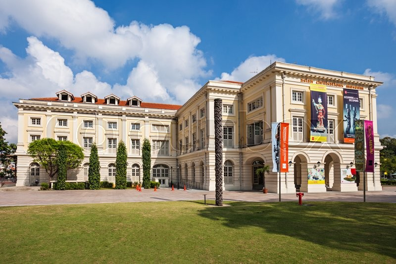 Editorial image of 'SINGAPORE - OCTOBER 17, 2014: The Asian Civilisations Museum is one of the pioneering museums in the region to specialise in pan-Asian \cultures and civilisations.'