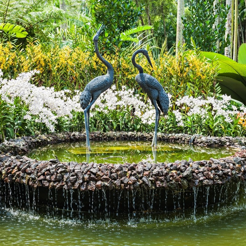 Editorial image of 'SINGAPORE - OCTOBER 17, 2014: The National Orchid Garden, located within the Singapore Botanic Gardens.'
