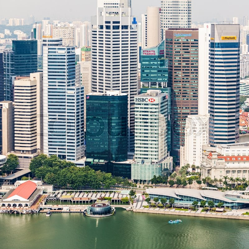 Editorial image of 'SINGAPORE - OCTOBER 18, 2014: Singapore city skyline.'